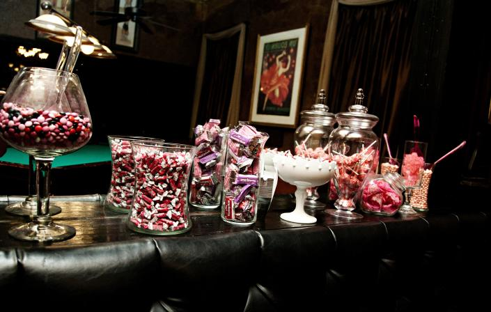Trendy brides everywhere are opting for a 'candy bar'. A fun and playful treat for all wedding guests.