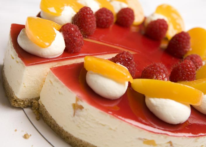 [Image: Our delicious cheesecake is made to perfection!]