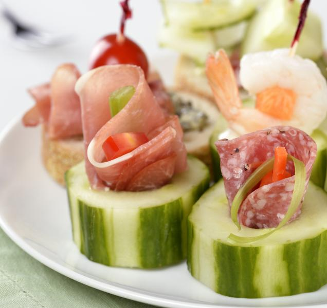 [Image: These delicious cucumber appetizers are so light and refreshing! They're perfect for any event!]