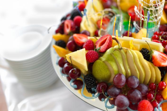 Our delicious fruit platter is always prepared with the freshest of fruit.